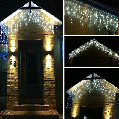 96 1500 LED Fairy String Hanging Icicle Snowing Curtain