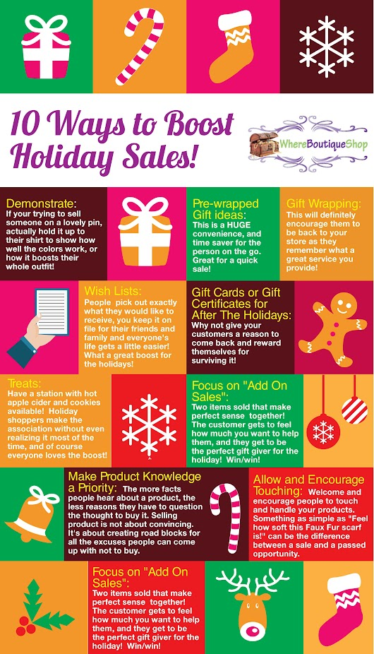 10 Ways to Boost Holiday Sales!