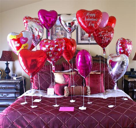 valentines day bed room decoration ideas