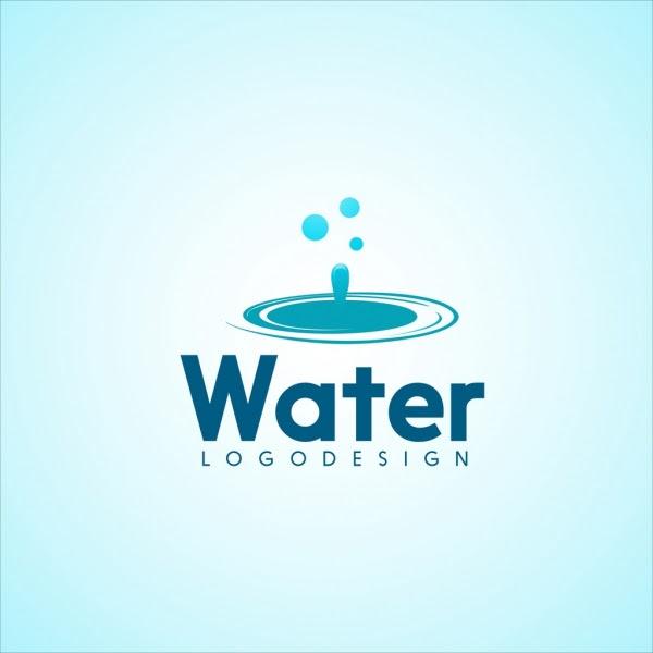 Vector water logo design 01 free download