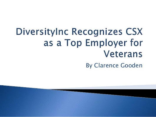 DiversityInc Recognizes CSX as a Top Employer for Veterans
