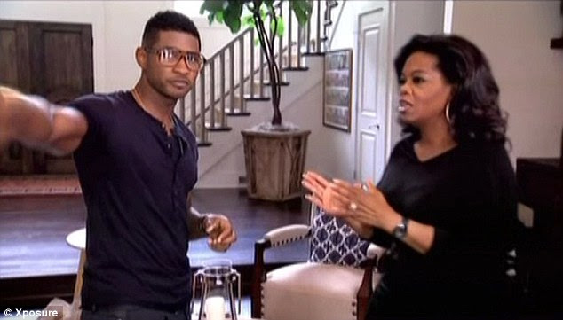 Expensive pad: Usher's ex claimed his money helped him win custody
