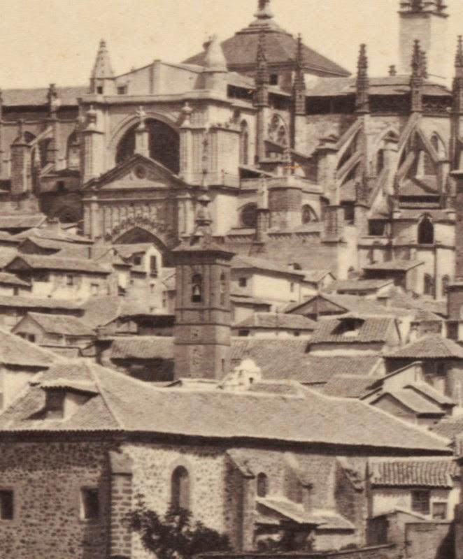 Iglesia de San Lorenzo de Toledo hacia 1860. Detalle de una fotografía de Francis Frith