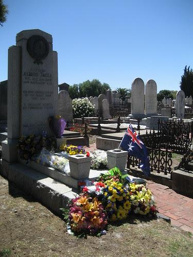 Albert Jacka's Grave, St Kilda Cemetery