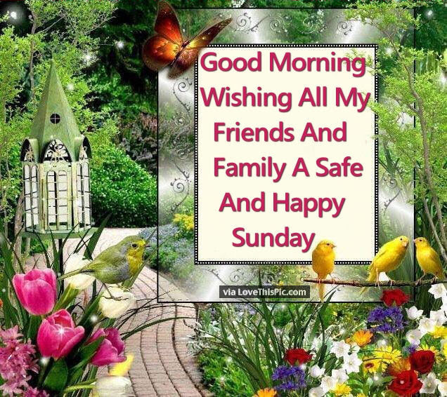 Good Morning Wishing All My Friends And Family A Safe And Happy