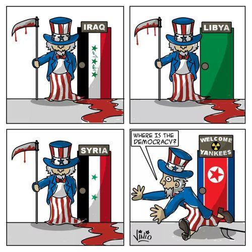 ¿Por qué Corea del Norte tiene bombas nucleares? Esta imagen es la mejor explicación. Fuente: https://twitter.com/Fekerfanta