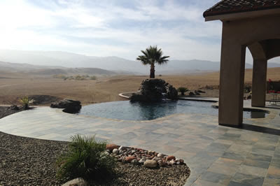 Coalinga Hills Infinity Edge Pool Design Paradise Pools™ serving the Central San Joaquin Valley.
