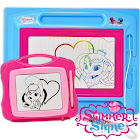 Shimmer and Shine Magnetic Drawing Board, Large Erasable Magna Doodle Sketching Pad with Travel Size Sketcher to Color, Draw and Erase for Kids,