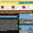 Hire a Car Service Service for Disneyland California from LAX Los Angeles