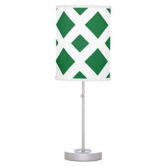 Green Diamonds on White Lamps