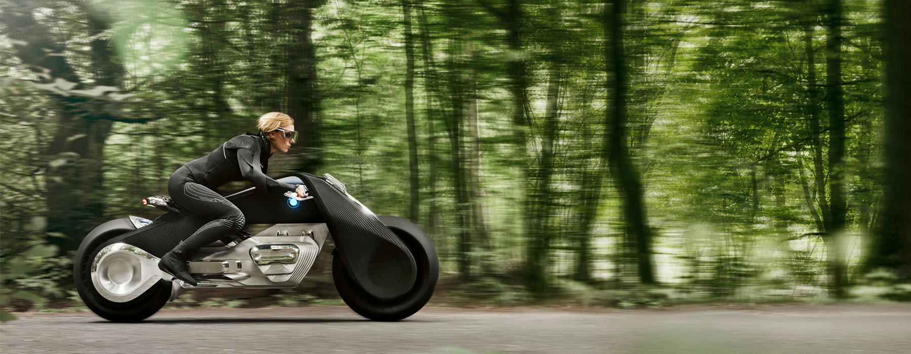 autonomous and fully connected BMW motorrad VISION NEXT 100 motorcycle