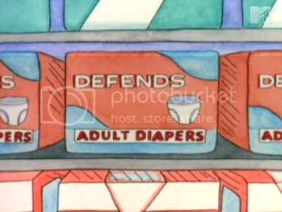 Defends Adult Diapers from the Beavis and Butt-Head episode 'Blood Pressure'