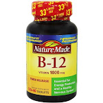Nature Made Vitamin B12 Timed Release 1000 mcg. 160 Tablets