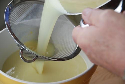 straining the limoncello