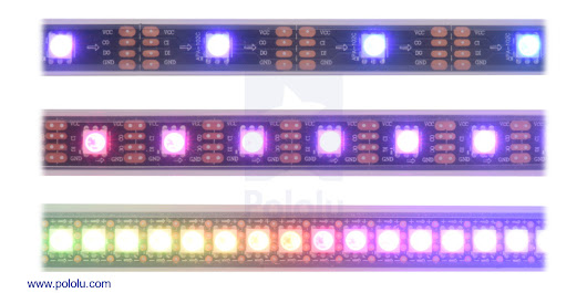 Pololu - New SK9822 LED strips and panels