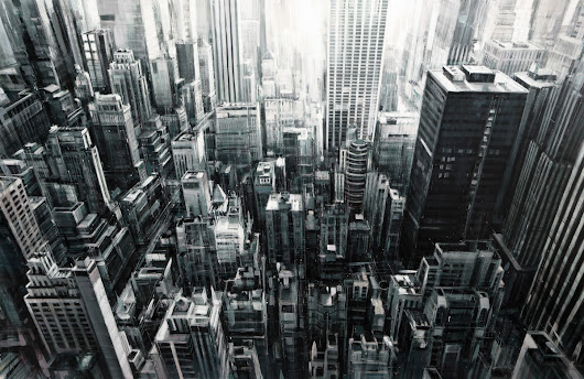 Painted Cityscapes By Valerio D'Ospina - Design Milk