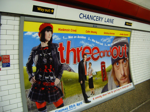 Three and Out Poster on the Tube