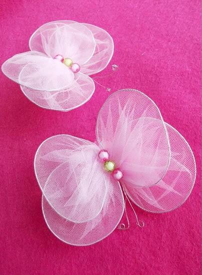 Mariposas de tul para decorar1