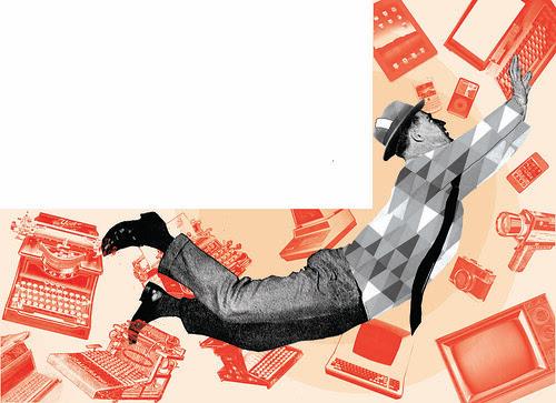 """My illustration for """"La lettura"""" by la casa a pois"""