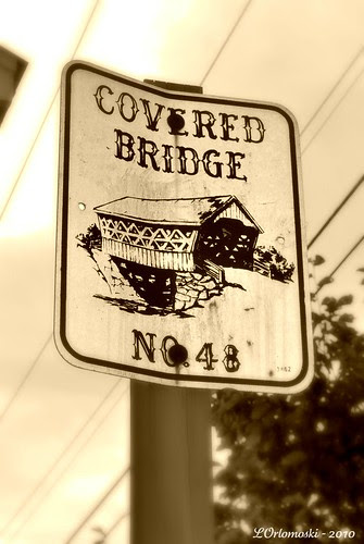 Saco Covered Bridge Number Sign