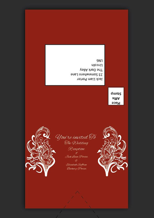 I can desgin your wedding reception and invitation cards for $23