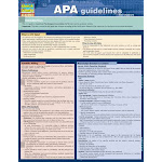 BarCharts 9781423225331 Apa Guidelines Quickstudy Easel