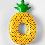 Pineapple Pool Float Yellow - Sun Squad