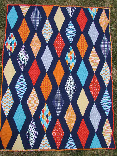 Finished Diamonds Baby Quilt