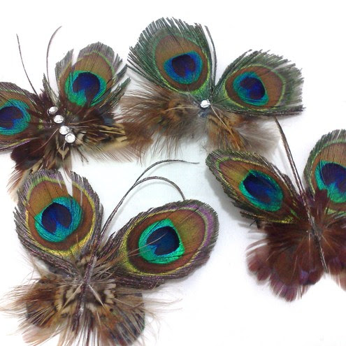 Small Feather Butterflies £9.50 - Tied & Feathered