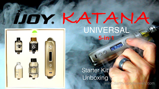 iJoy | Katana Universal Starter Kit Unboxing | Darth Vapor Reviews