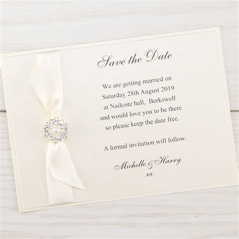 Dior Bow Save the Date   Pure Invitation Wedding Invites