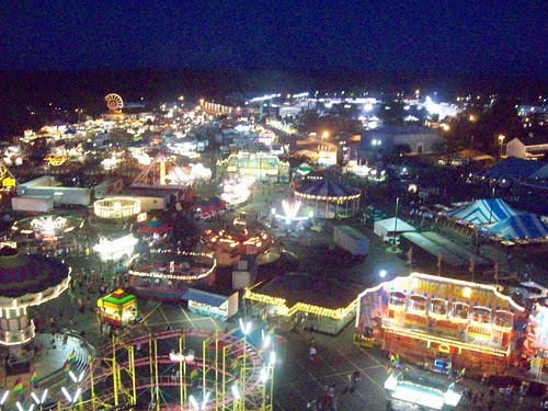Erie County Fair: Midway at Night I