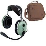 David Clark H10-13.4 Mono Headset & Headset Bag Combo