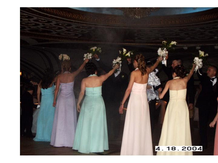 Re Rainbow Themed Bridal Party I am trying to post my sisters pictures
