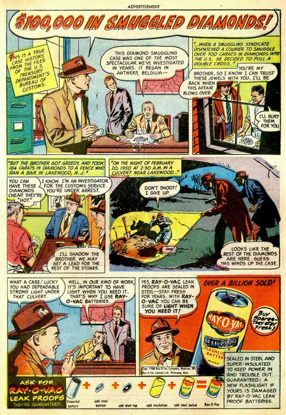 Eveready battery comic book ad