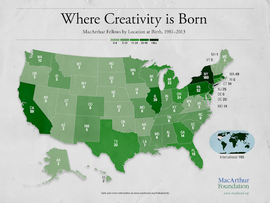 Mobility Among Highly Creative People: What Data About MacArthur Fellows Reveal — MacArthur Foundation