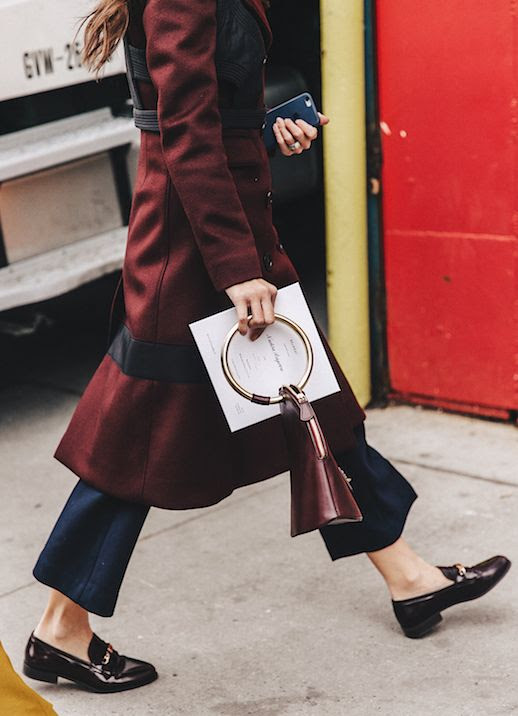 Le Fashion Blog Unique Bags To Liven Any Outfit Street Style Paris Fashion Week Maroon Bag Via Collage Vintage