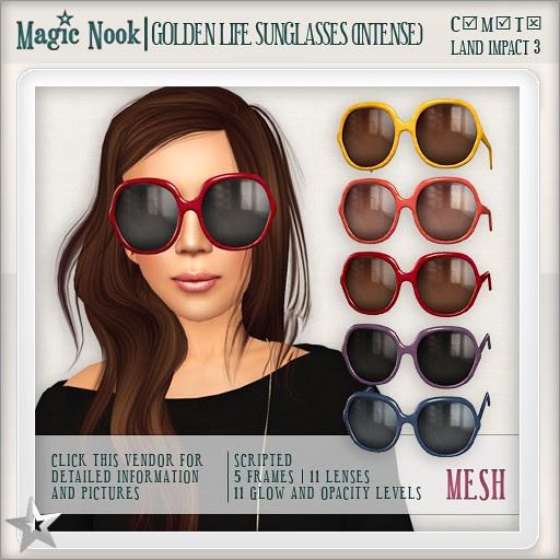 [MAGIC NOOK] Golden Life Sunglasses (Intense) MESH
