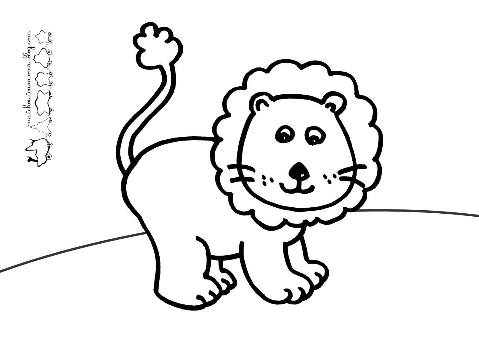 Activité de coloriage lion