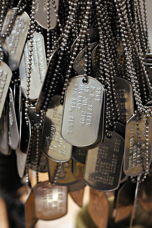 ☆ Dog tags signifying each Marine killed in action that has passed through School of Infantry East, are displayed on a memorial in the entrance of Ivy Hall – the headquarters of the school – at Camp Lejeune in North Carolina on Thursday, September 30, 2010 :¦: Posted By JMILBRETT ☆