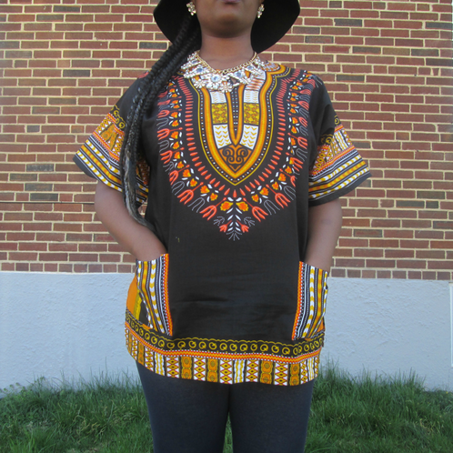 Black and Gold Royal Dashiki | Wholesale Fashion for Women