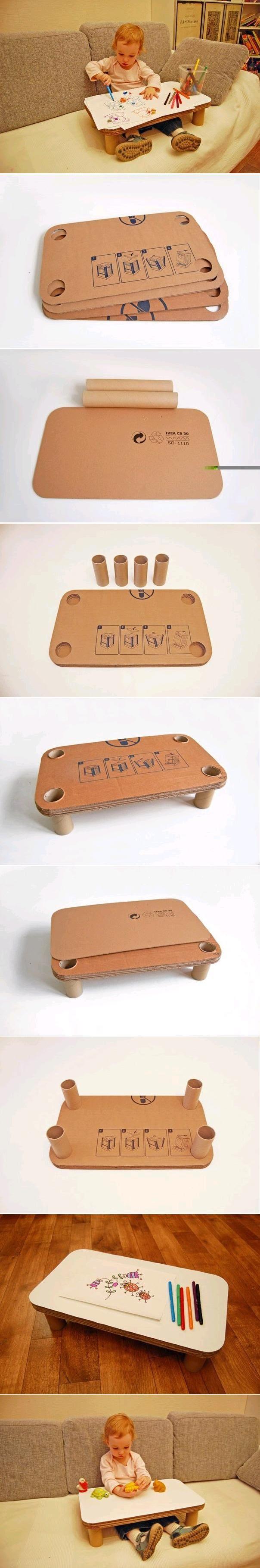 DIY Children Cardboard Table