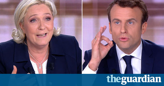 French election: Macron hailed as winner of bruising Le Pen TV debate | World news | The Guardian