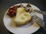 Foodycat's Caponata, Funghi and Caciocavallo