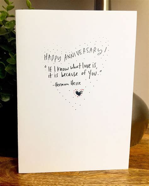 I know what love is, One Year Anniversary Card for her