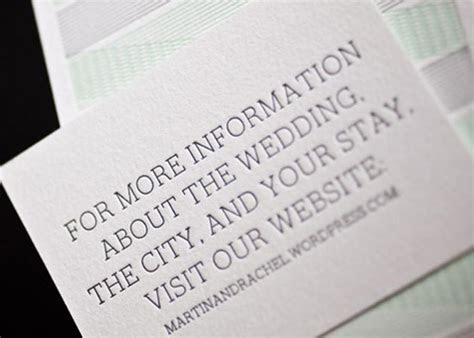 Website cards for wedding invitations from Bella Figura