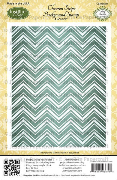 Chevron Stripe Background Cling Stamp