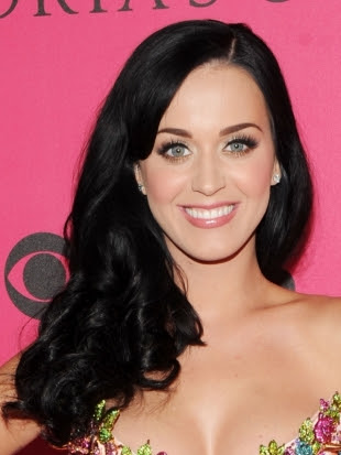 Katy Perry Side Curly Hairstyle