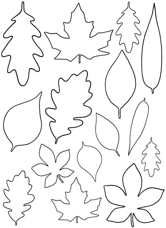 + free leaf template