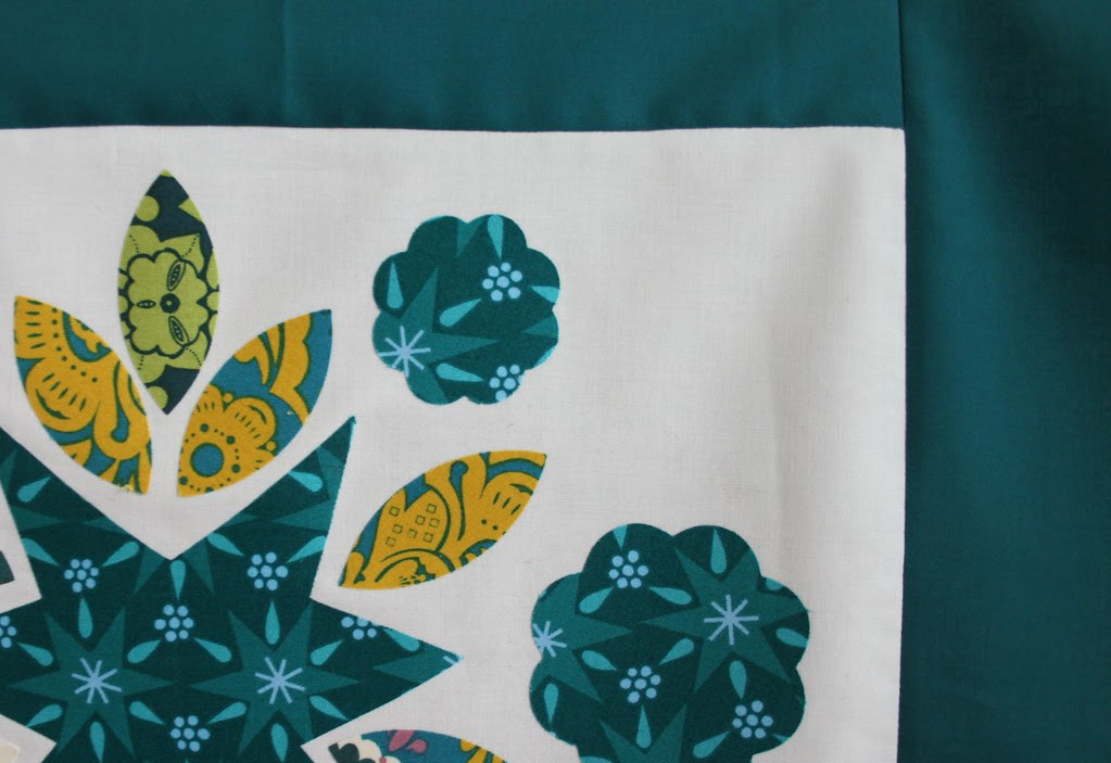 Teal Quilt Block -- the Layout